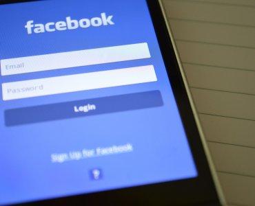 facebook application open on phone screen