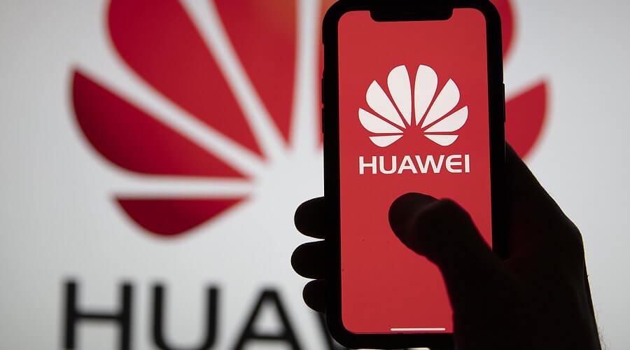 huawei logo and mobile phone